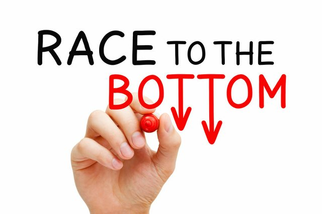 Race To The Bottom Price War Concept