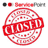 Service Point closed